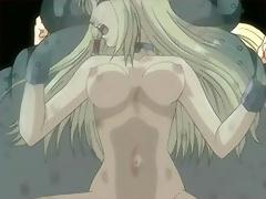 Hentai Neko-girl got gangbang and swallows Ryuji Otogi